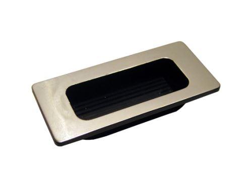 nábytková úchytka plastová do posuvných dveří, zápustné hranaté madlo TR04, rozteč 96mm, chrom