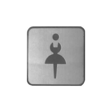 nerezový rozlišovací piktogram samolepící, na dveře