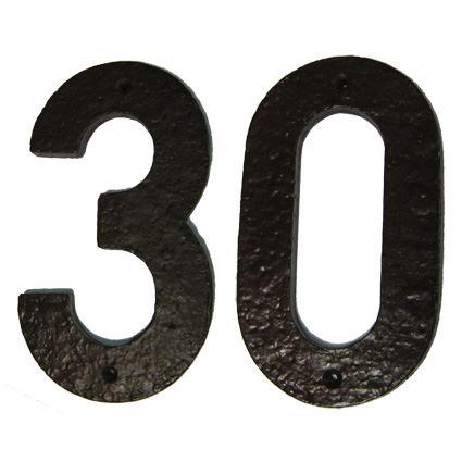 číslo domovní fasádní - plastové, barva hnědá, 150mm, na dveře, na dům