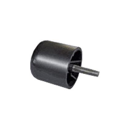 klzná nôžka pod nábytok kruhová sa čapom na metrický závit M8, plastová, výška 50mm, priemer 50mm, celková výška 80mm
