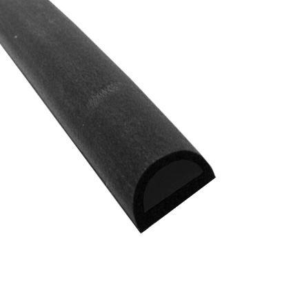 samolepící silikonová těsnící páska ELLEN na okna a dveře, pro šířku spáry 8 až 10mm, profil D XXL, černá