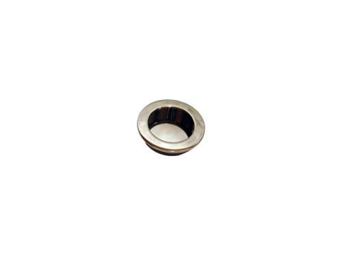 nábytková úchytka kovová do posuvných dveří, zápustné kulaté madlo  TS11, průměr 35mm