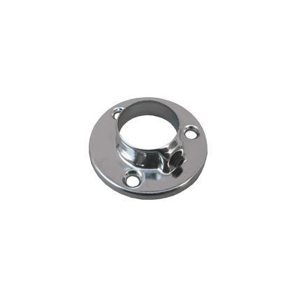 držák šatní tyče, kovová podpěra do boku skříně pro tyč, kruhová, průměr 25mm