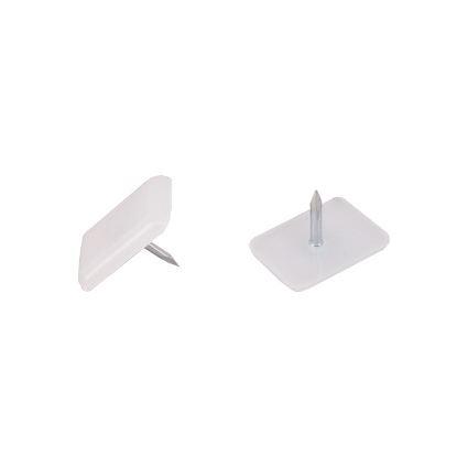 kluzná nožka pod nábytek obélníková s hřebem, plast, 18 x 12 mm, výška 2,5mm