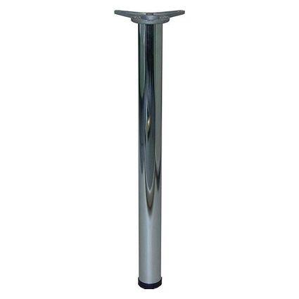 kovová trubková noha ke stolům a nábytku průměr 6 cm, délka 110 cm s patkou k přichycení k desce