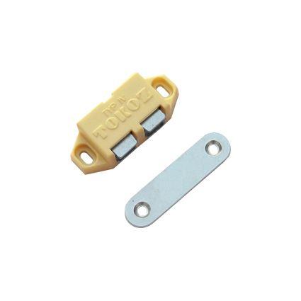 sklapka magnetická bočné, magnet k aretáciu nábytkových dvierok v uzavretej polohe, slonová kosť