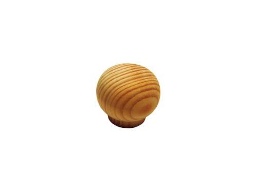 nábytková úchytka (knopka) dřevěná, borovice bez povrchové úpravy, SUD 132