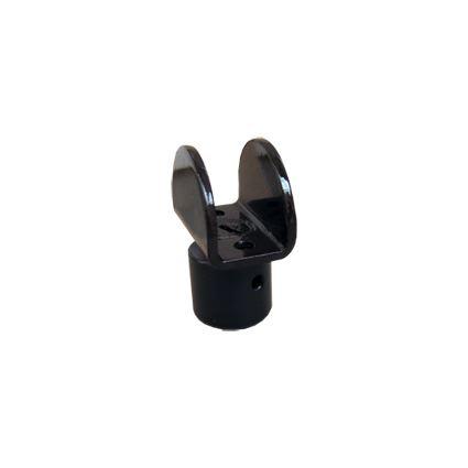 rektifikačná nôžka U k nábytkovému soklu, kovová, na nasadenie na lamino 18mm, výška 2,7 cm
