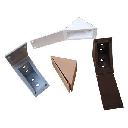 plastový rožok s krytkou na spojenie políc a nábytku, veľký 25x35mm