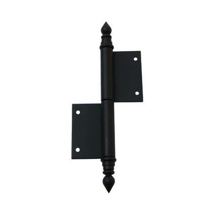 pant, závěs zadlabací okenní TKZ UŘ14 černý lak, s ozdobným zakončením