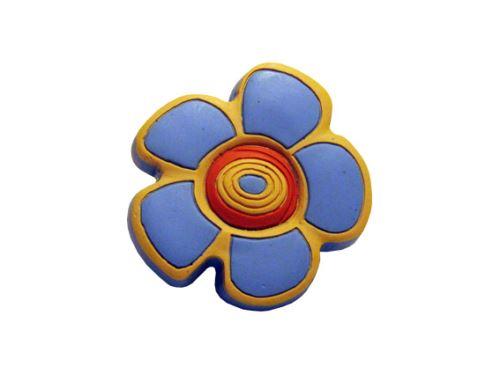 nábytková úchytka (SIRO 12816) detská gumová mäkká KVET