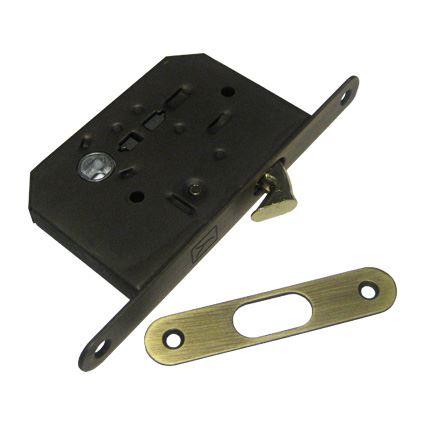 zadlabací zámek s háčkem na posuvné dveře FT 60/50 na WC kličku
