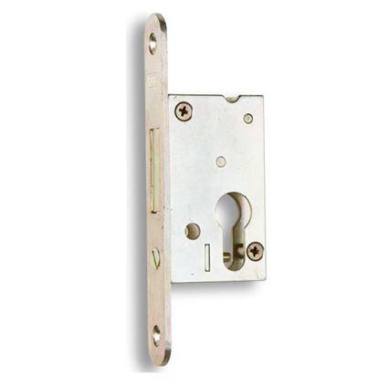 bezpečnostní zadlabací dveřní zámek na vložku Hobes BZD 048 , závorový, úzký do jeklu