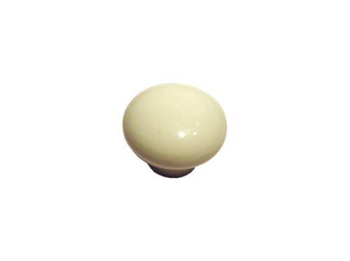 nábytková retro úchytka, porcelánová knopka 12072, priem. 32mm