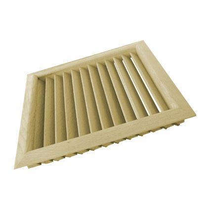 mříž dřevěná větrací nábytková čtvercová, LGES 160x160, šikmé lamely, nelakovaná