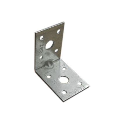 úhelník pro spojení trámů malý, s prolisem proti deformaci KPL, bílý zinek