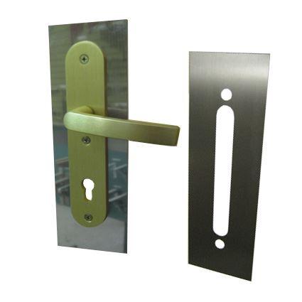 ochranný plech na dveře pod kliku, šíře 80mm, nerez