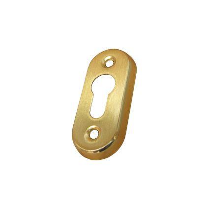 spodní rozeta - kolečko pod dveřní kliku, oválná 36x82mm, kus, otvor pro vložku
