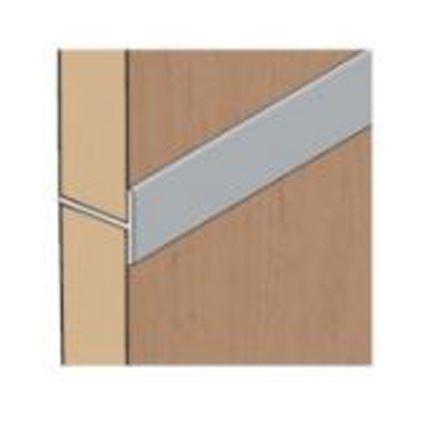 """hliníková nábytková lišta """"T"""", spojovacia pre zakrytie medzery, 18x17mm, dĺžka 2m"""