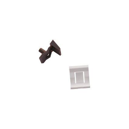 nábytková policová podpierka plastová I7, do dierky 5mm, vonkajšia časť plochá