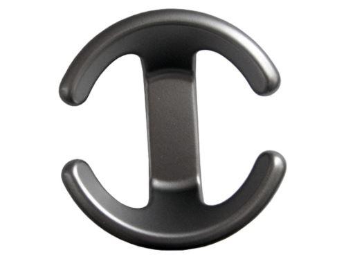 šatní věšák designový, nábytkový háček kovový, na stěnu, Tulip 77814, matný chrom