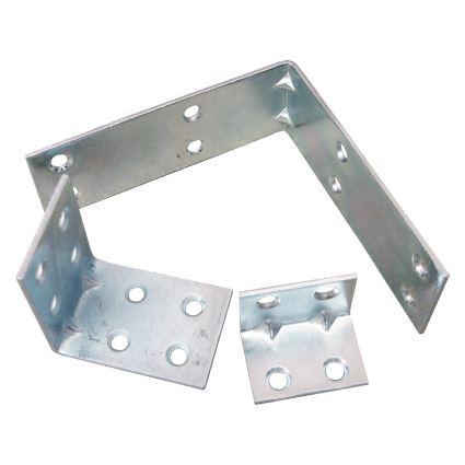 kovový spojovací rožek, úhelník široký s prolisem, šíře 30mm