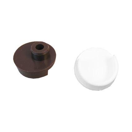 držák šatní tyče, plastová podpěra do boku skříně pro kulatou tyč 25mm