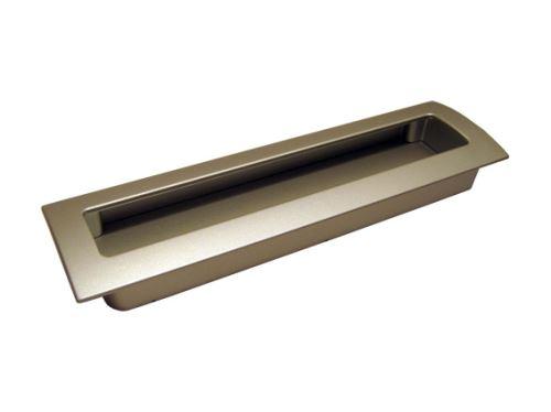 nábytková úchytka kovová do posuvných dverí, zapustené hranaté madlo 14078,80, rozteč 160mm
