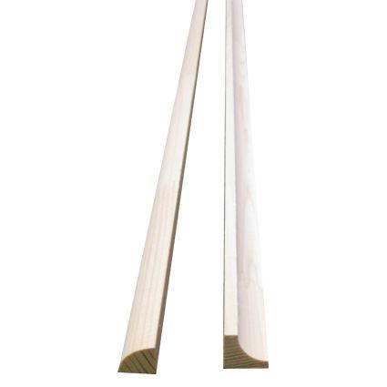 dřevěná masivní lišta PR, smrk kout, roh vnitřní, cena za 1 m, délka 2m