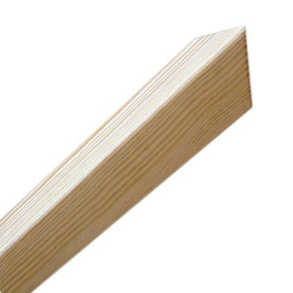 ochrana rohu stěny proti poškození, dřevěný roh se špičkou, 43x43mm,vhodný k nalepení, délka 1,45m