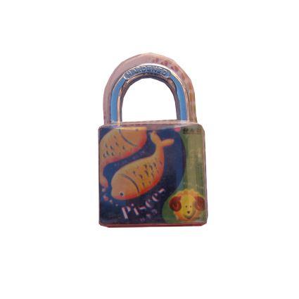 visací zámek na školní skříňky - znamení zvěrokruhu, 3 klíče